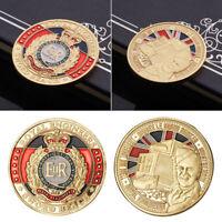 1pc ER Queen's badge Commemorative Coin New Pro Hot AU