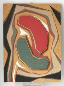SUPERB Abstract plywood study Czech artist 1950s Vaclav Trefil ?