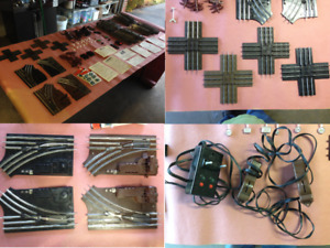 Lionel pre-1970 collection, track, engine, cars, switches, crossing gate, etc