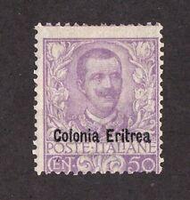 Eritrea stamp #27, MLHOG, very clean, Italian colony overprint, SCV $500