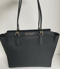 Michael Kors DEE DEE Large Black Convertible Saffiano Leather Tote NWT