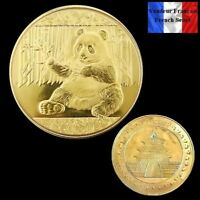 1 Pièce plaquée OR ( GOLD Plated Coin ) - Panda Chinois