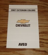 2007 Chevrolet Aveo Exterior Interior Colors Foldout Sales Brochure 07 Chevy