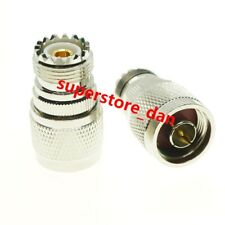 4Pcs UHF female SO-239 SO239 Jack to N Male RF adapter connector Radio Router
