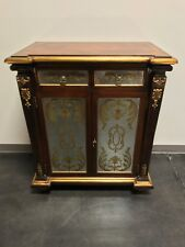 Monarch Fine Furniture for Century Empire Style Inlaid Mahogany Console Cabinet