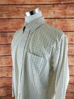 Brooks Brothers Large L Country Club Button Down Plaid Check Long Sleeve Shirt