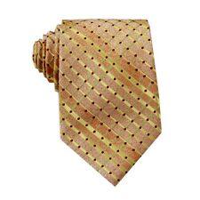 D.berite Pale Yellow Checked Silk Jacquard Classic Woven Man's Tie Necktie FS33