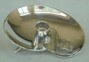 SUPERB DANISH 1960s DESIGN SILVER PLATED CANDLE HOLDER BY A.P. BERG