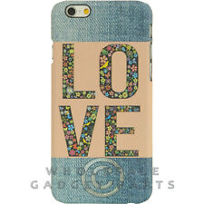 Apple iPhone 6/6s Candy Skin Faded Blue Jeans Love Patch Guard Shield Cover