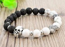 Women Men Jewelry Accessories Natural Stone Skull Bracelets & Bangles Lava Beads