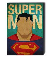 SUPERMAN Canvas Wall Art Print. Various Sizes