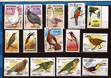 NICARAGUA UCCELLI: pdove,anatre,raptors vari 1M1D