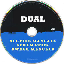 DUAL Service Owner Manuals & Schematics- PDFs on DVD - Huge Collection Latest