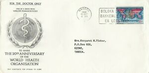 FDC  Doctors Only Horlicks  Pharm to mark the 20th Ann. of the WHO 11th Sep 1968