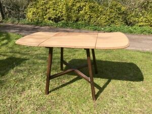 Ercol 387 Dropleaf Dining Table. 1950's mid-century modern.For Restoration