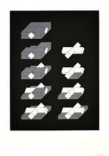 Heerich: Geometrische Komposition in Schwarz und Grau und Weiß (3). [um 1970].