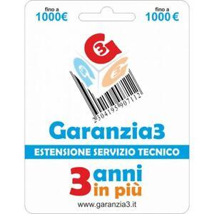 ESTENSIONE DEL SERVIZIO TECNICO GARANZIA + 3 ANNI MASSIMALE 1000,00 EURO