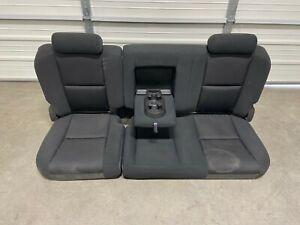 2007-2013 1500 2500 3500 CHEVROLET SILVERADO CREW CAB EBONY CLOTH REAR SEAT