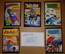 BATMAN INDEX CARD Artist SIGNED SHELDON SHELLY MOLDOFF w/5 Cover Art Postcards