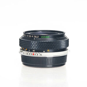 Olympus 40mm F2 OM Manual Focus Standard Prime Lens