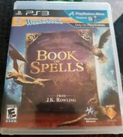 PS3 PlayStation 3 Wonderbook Book Of Spells JK Rowling Harry Potter Video Game