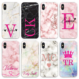 For iPhone 8/7/6/Plus/5s/XS/Max/XR/11/Case Personalised initials Name Phone zx41