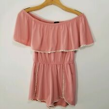 Rue 21 Small Off Shoulder Rose Colored Romper