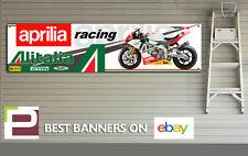 APRILIA rsv4 ALITALIA Banner di grandi dimensioni per Officina, Garage, Man Grotta, Pit Lane