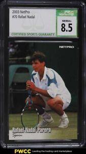 2003 NetPro Tennis Rafael Nadal ROOKIE RC #70 CSG 8.5 NM-MT