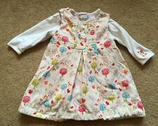 Baby Girls Rocha Little Rocha Cord Pinafore Dress & Matching Top 6-9 Months VGC