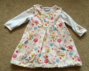 Baby Girls Rocha Little Rocha Cord Pinafore Dress & Matching Top 6-9 Months VGC