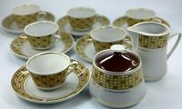 Vintage RPR Riga Latvia Porcelain Espresso Coffee Tea  Set