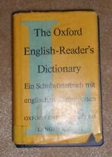 the oxford english-Reader´s dictionary langenscheidt