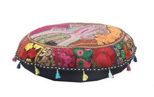 Ottoman Stool Indian Handmade Pouf Cover Bohemian Patch Work Floor Chair Pouffe