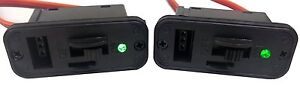 Apex RC Products JR Style HD On/Off Switches W/LED + Charge Port - 2 Pack #1061