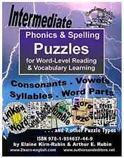 Phonics & Spelling Puzzles, Intermediate Level, for Reading, Writing, Vocabulary