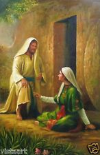 "Oil Painting on Stretched Canvas- ""Inspirational Man & Woman Interacting""-24x36"""