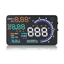 "A8 5.5"" Car HUD Head Up Display OBDII OBD2 Speed Warning Fuel Consumption"