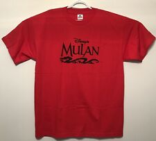 vtg Vintage 90s Disney's Mulan Movie Promo T Shirt Animated Cartoon Extra Larhe