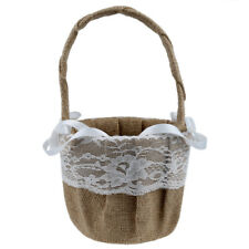 Vintage Retro Lace Bow Wedding Flower Girl Basket SS
