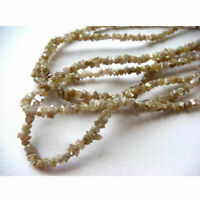 Natural Champagne Raw Rough Diamond Beeads Strand 4/8/16inc 2-3mm i3 Clarity