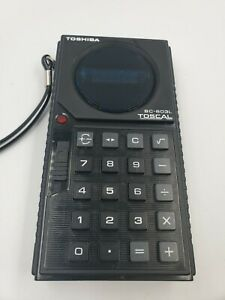 Toshiba TOSCAL BC-603L Hand Held Calculator circa early '70s Vintage Works