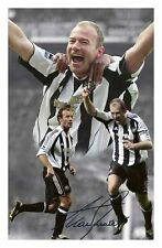 ALAN SHEARER - NEWCASTLE UNITED AUTOGRAPHED SIGNED A4 PP POSTER PHOTO