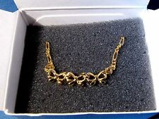 "1991 Avon Row of Bows Bracelet - 7"""