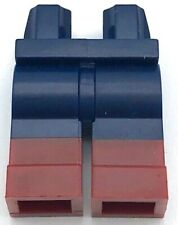 LEGO Minifigure Legs DARK BLUE Jeans Hips Brown Belt and Hip Holster Right Side