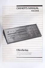 Original Oberheim Xpander Owner's Manual Expander (Japanese Version)