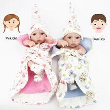 10'' Magic Twins Lifelike Silicone Reborn Baby Dolls Full body silicone Vinyl