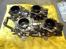 JOHNSON EVINRUDE BRP OUTBOARD SET OF 4 CARBURATORS WITH MANIFOLDS 437722