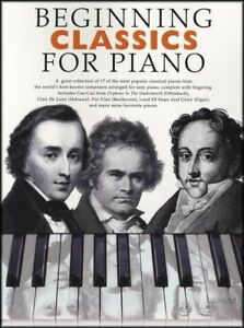 Beginning Classics for Piano Easy Sheet Music Book