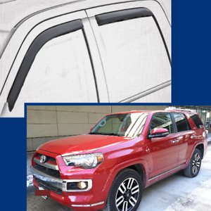 In-Channel Wind Deflectors Rain Guards Wind Visors for 2010-2021 Toyota 4RUNNER